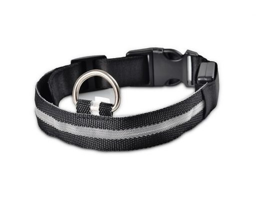 LED dog collars - black